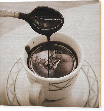 Cioccolata Calda Wood Print by Catie Canetti