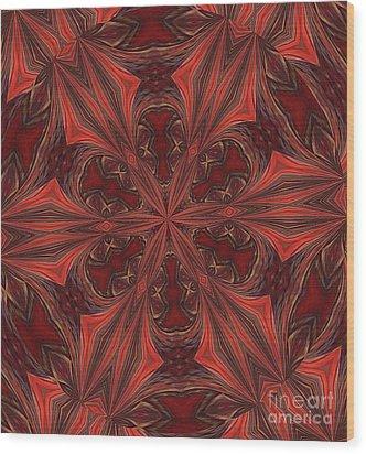 Wood Print featuring the digital art Circle by John  Kolenberg