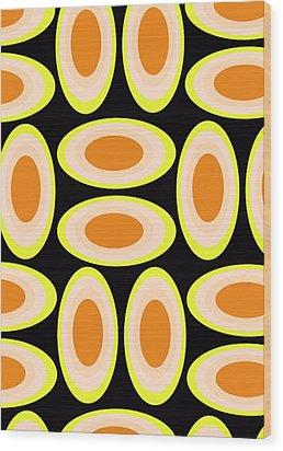 Circles Wood Print by Louisa Knight