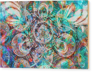 Circles Of Life Wood Print by Mo T