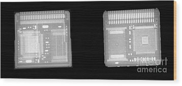 Circuit Boards Wood Print by Ted Kinsman