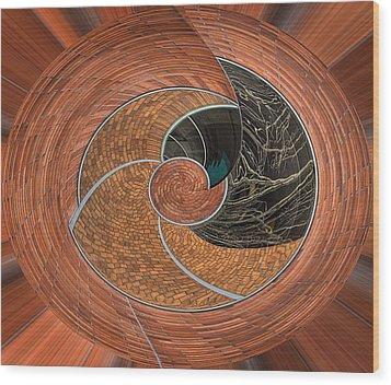 Circular Koin Wood Print by Jean Noren