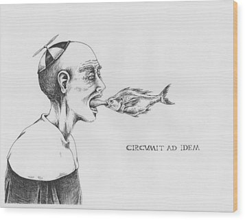 Circumit Ad Idem Wood Print by Canis Canon