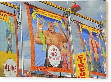 Circus Attractions Wood Print by David Lee Thompson