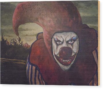 Wood Print featuring the painting Circus Greeter by James Guentner