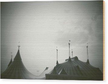 Circus Tent Wood Print by Copyright Lynn Longos