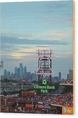 Citizens Bank Park 1 Wood Print by See Me Beautiful Photography