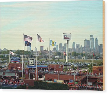 Citizens Bank Park 3 Wood Print by See Me Beautiful Photography