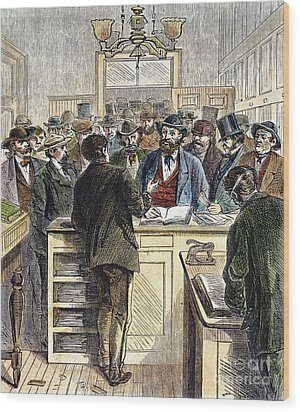 Citizenship, Nyc, 1868 Wood Print by Granger