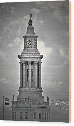 City And County Of Denver Building Wood Print by Christine Till