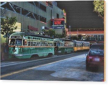 City Bus San Francisco Wood Print by Michael Cleere