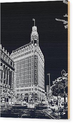 City Center  Wood Print by Joe Finney