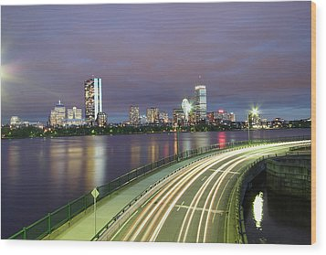 City Flow Wood Print by Eric Hill