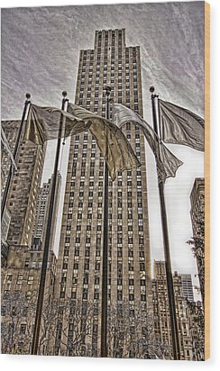 City Glitz Wood Print by Anne Rodkin