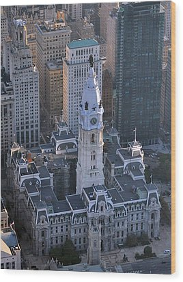 Wood Print featuring the photograph City Hall Broad St And Market St Philadelphia Pennsylvania 19107 by Duncan Pearson