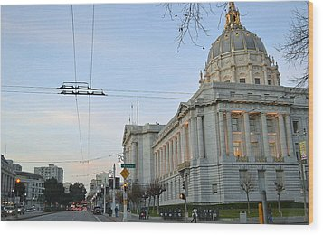 Wood Print featuring the photograph City Hall San Francisco by Rima Biswas
