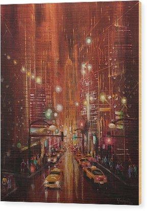 City Lights 2 Wood Print by Tom Shropshire