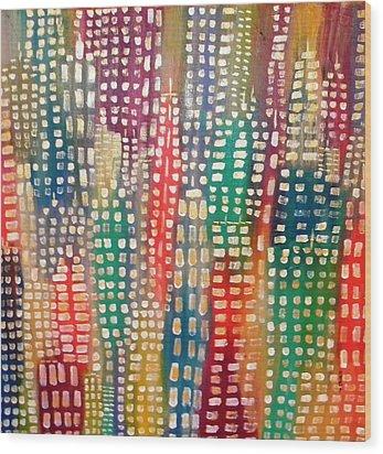 City Lights II Wood Print
