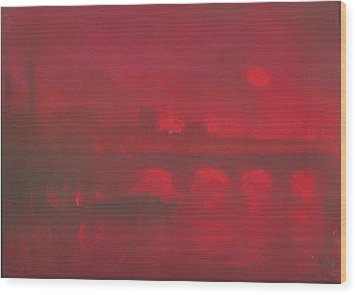 City Mist 1 Wood Print by Paul Mitchell