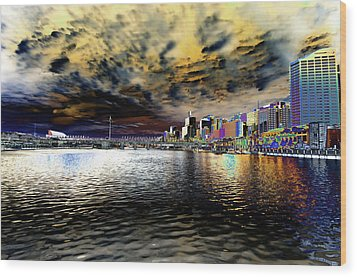 City Of Color Wood Print by Douglas Barnard
