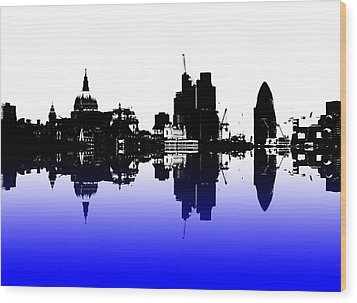 City Of Culture Wood Print by Sharon Lisa Clarke
