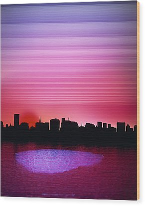 City Of My Dreams Wood Print by Jan W Faul
