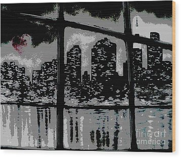 City View Wood Print by Carla Carson