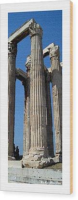 Citymarks Athens Wood Print by Roberto Alamino