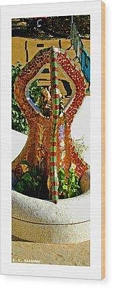 Citymarks Barcelona Wood Print by Roberto Alamino