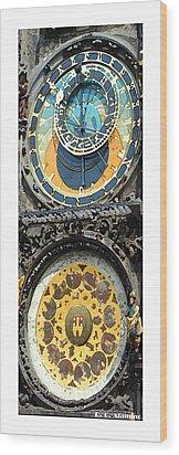 Citymarks Prague Wood Print by Roberto Alamino