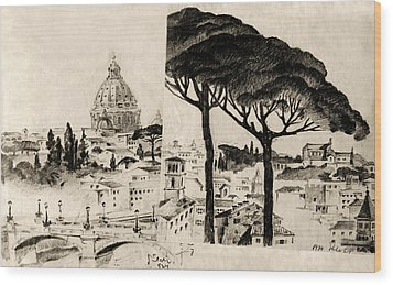 Cityscape In Pairs  Wood Print by Odon Czintos