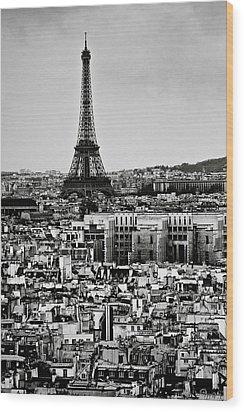 Cityscape Of Paris Wood Print by Sbk_20d Pictures