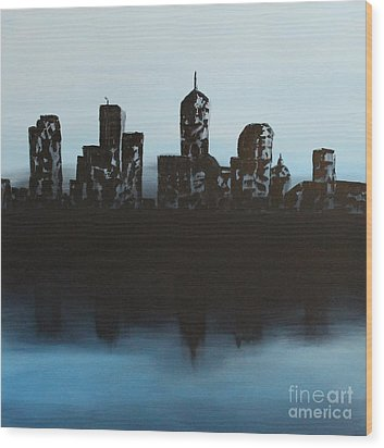 Cityscape One Wood Print