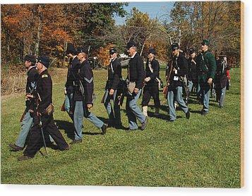Civil Soldiers March Wood Print by LeeAnn McLaneGoetz McLaneGoetzStudioLLCcom