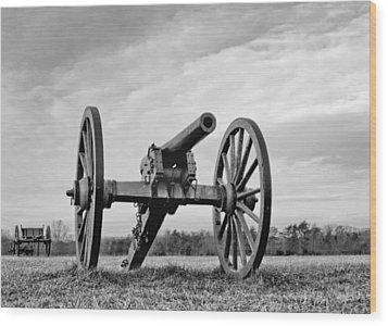 Civil War Canon - Manassas Battlefield - Virginia Wood Print by Brendan Reals