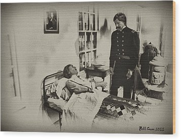 Civil War Hospital Wood Print by Bill Cannon