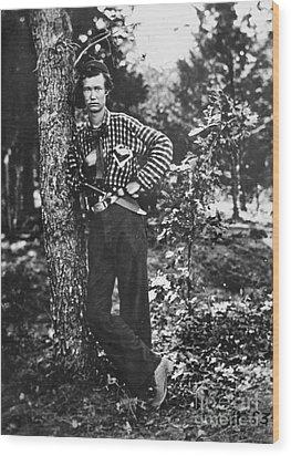 Civil War: Soldier, 1861 Wood Print by Granger