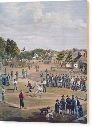 Civil War: Union Prisoners Wood Print by Granger