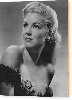 Claire Trevor, 1945 Wood Print by Everett