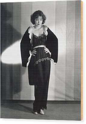 Clara Bow, Around 1929 Wood Print by Everett