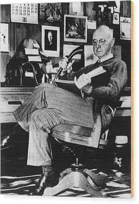 Clarence Birdseye, Circa 1950 Wood Print by Everett