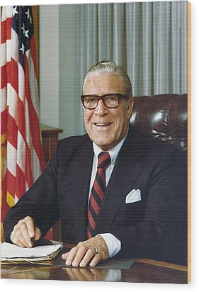 Clarence Kelley As Director Of The Fbi Wood Print by Everett
