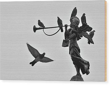Clarinet Statue Wood Print by CarlosAlbertoPhoto