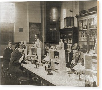 Class In Bacteriology At Howard Wood Print by Everett