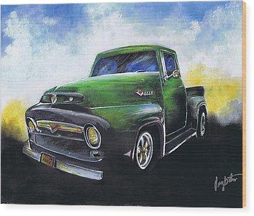 Classic 56 Ford Truck Wood Print