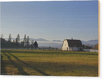 Wood Print featuring the photograph Classic Barn In The Country by Mick Anderson