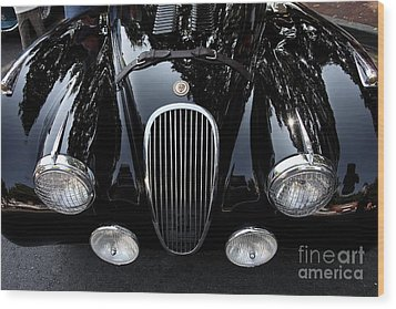 Classic Black Jaguar . 40d9322 Wood Print by Wingsdomain Art and Photography