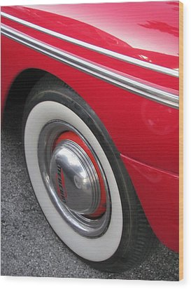 Classic Car Mercury Red 1 Wood Print by Anita Burgermeister