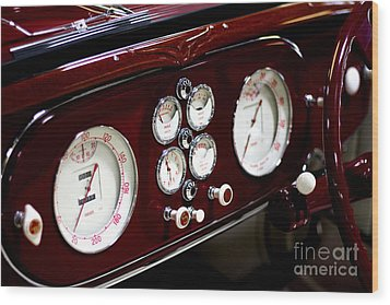 Wood Print featuring the photograph Classic Gauges by Jason Abando
