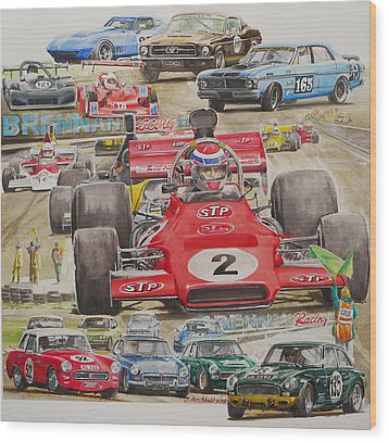 classic Racing 07 Wood Print by John  Archbold